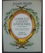 Joseph Haydn Complete London Symphonies in Full Score Series II Nos. 99-104 - $11.50