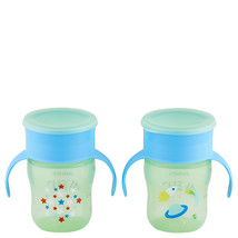 Philips Avent My First Big Kid Cup Green/Blue 9m+ 360 degree BPA Free 2 ... - $11.05