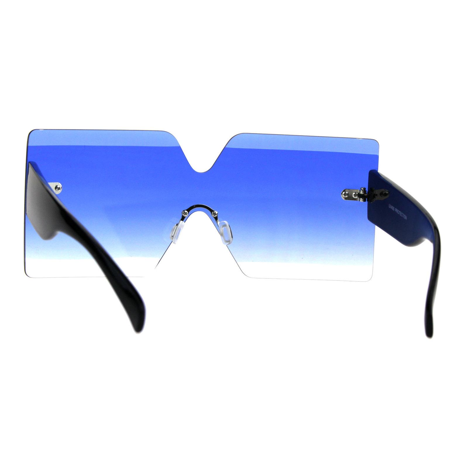 Futurism Rectangular Robotic Funk Disco Gradient Sunglasses
