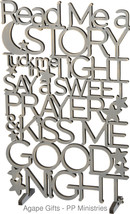 Primitives by Kathy Word Art - Goodnight Say Your Prayers Grey #26554 - $29.65