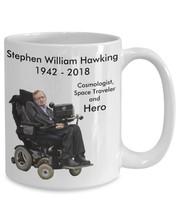 New Mug - Stephen Hawking Tribute Memorial Coffee Mug Gift - $10.99+