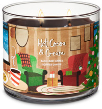☆☆HOT COCOA & CREAM☆ BATH & BODY WORKS 3 WICK CANDLE JAR☆FREE SHIPPING C... - $22.76