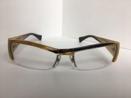New ALAIN MIKLI AL07570021 54mm Yellow Semi-Rimless Eyeglasses Frame - $353.99