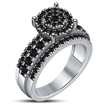 Round Cut Diamond 10k White Gold Plated Pure 925 Silver Engagement Women... - $92.86 CAD
