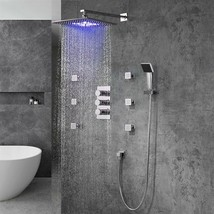 Fontana Trialo Brass Regular Mixer Square Shower System 0522GT - 12 Inch - $1,144.69