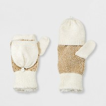 Isotoner Women's Recycled Yarn Fleece Lined Flip-Top Patterned Mittens, NWT - $16.15