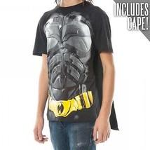 Autentico BATMAN Dark Knight Mantella Dc Comics Film Costume Camicia S M L XL 2X - $20.94