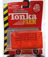 Tonka Farm Farm Equipment Die Cast Metal Bale Throw Wagon Scale 1:64 - $12.86