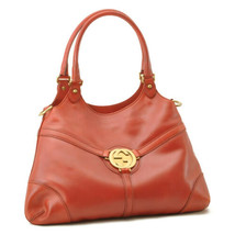 GUCCI Inter Locking Tote Bag Red Leather Auth 11154 - $320.00