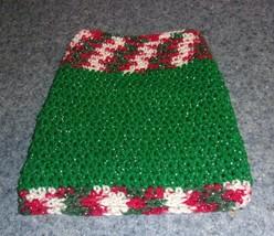 Brand New Hand Crocheted Glitter Red Green White Dog Snood Neck Warmer 4... - $12.74