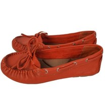 Lucky Brand Womens Orange Tie Slip On Comfort Casual Moccasins Shoes Fla... - $35.62