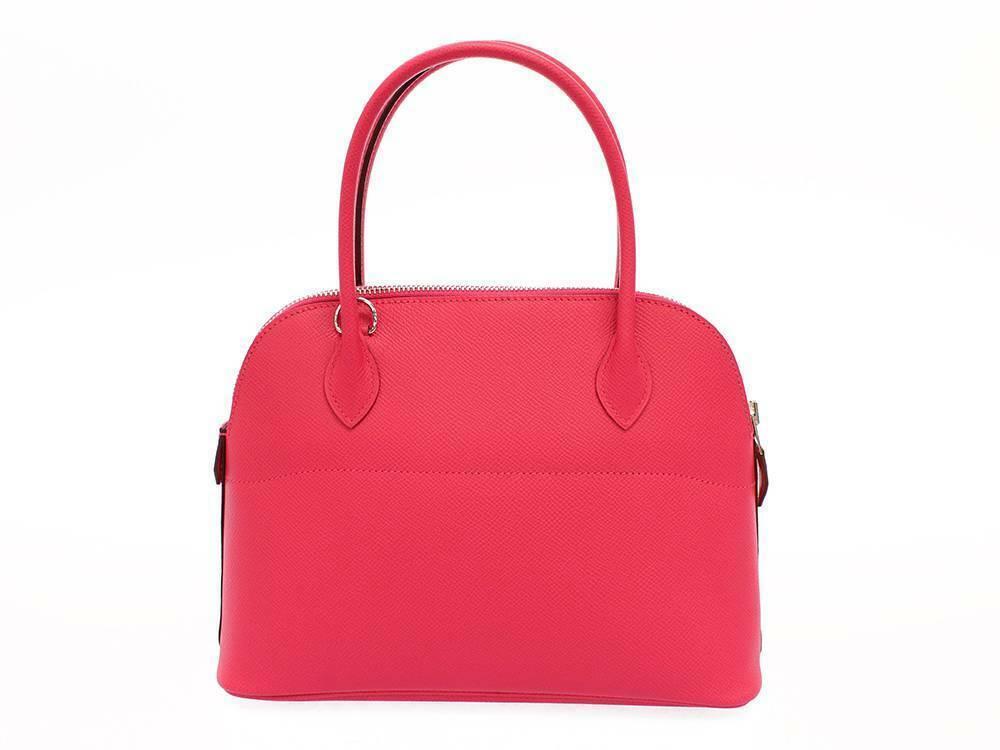 HERMES Bolide 27 Epsom Rose Extreme #D Handbag Shoulder Bag Authentic 5554645 image 2