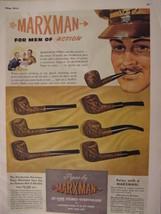 1944 Esquire Original Ads WWII Era MARXMAN Pipes Three Feathers Whiskey - $8.00