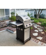 Propane Gas Grill with Infrared Technology Stainless Steel Two Burner Ve... - $220.99