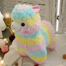 Rainbow Alpaca Vicugna Pacos Soft Alpacasso Plush Doll Stuffed Toy Kid's... - $19.50