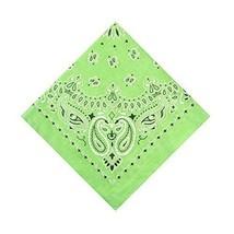 6 Pack Cotton Handkerchiefs Wreath Bandanas Lime Green Men's Accessories... - $14.17
