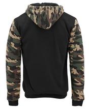 MX USA Men's Army Camo Zip Up Sherpa Hoodie Fleece Hunting Sweater Jacket image 6