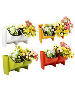 Hydroponics Wall Hanging Vertical Flower Pot Succulents Pots Stackable P... - £13.33 GBP