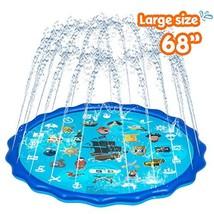Obuby Sprinkle & Splash Play Mat, Sprinkler for Kids,Upgraded 68' Summer Outdoor