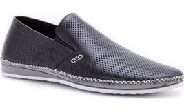NEW ZANZARA Mens MERZ Slip-On Premium Perforated Leather Shoes NWOB