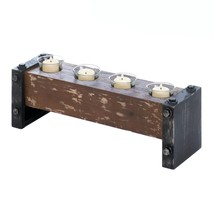 *15546B  Pine Wood Bolt Accent Tea Light Candle Holder - $21.55