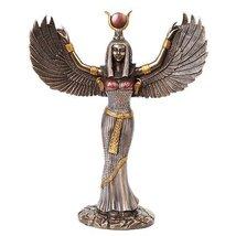 11.88 Inch Egyptian Isis Mythological Bronze Finish Statue Figurine - $39.59