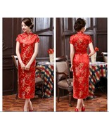Traditional Chinese Women's Silk Satin Long Dress Cheongsam Qipao SZ S-6... - $19.99