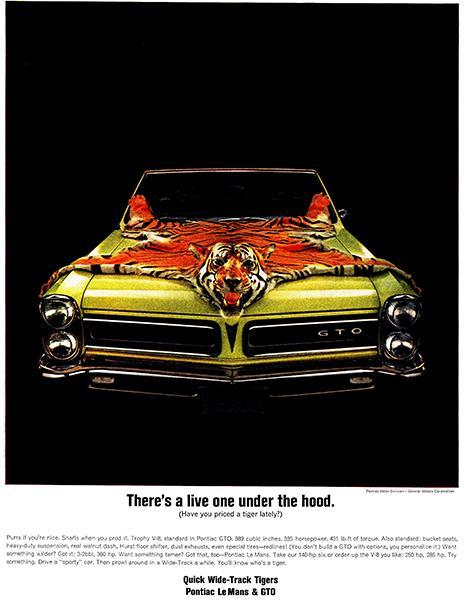 Primary image for 1965 Pontiac GTO - Promotional Advertising Poster