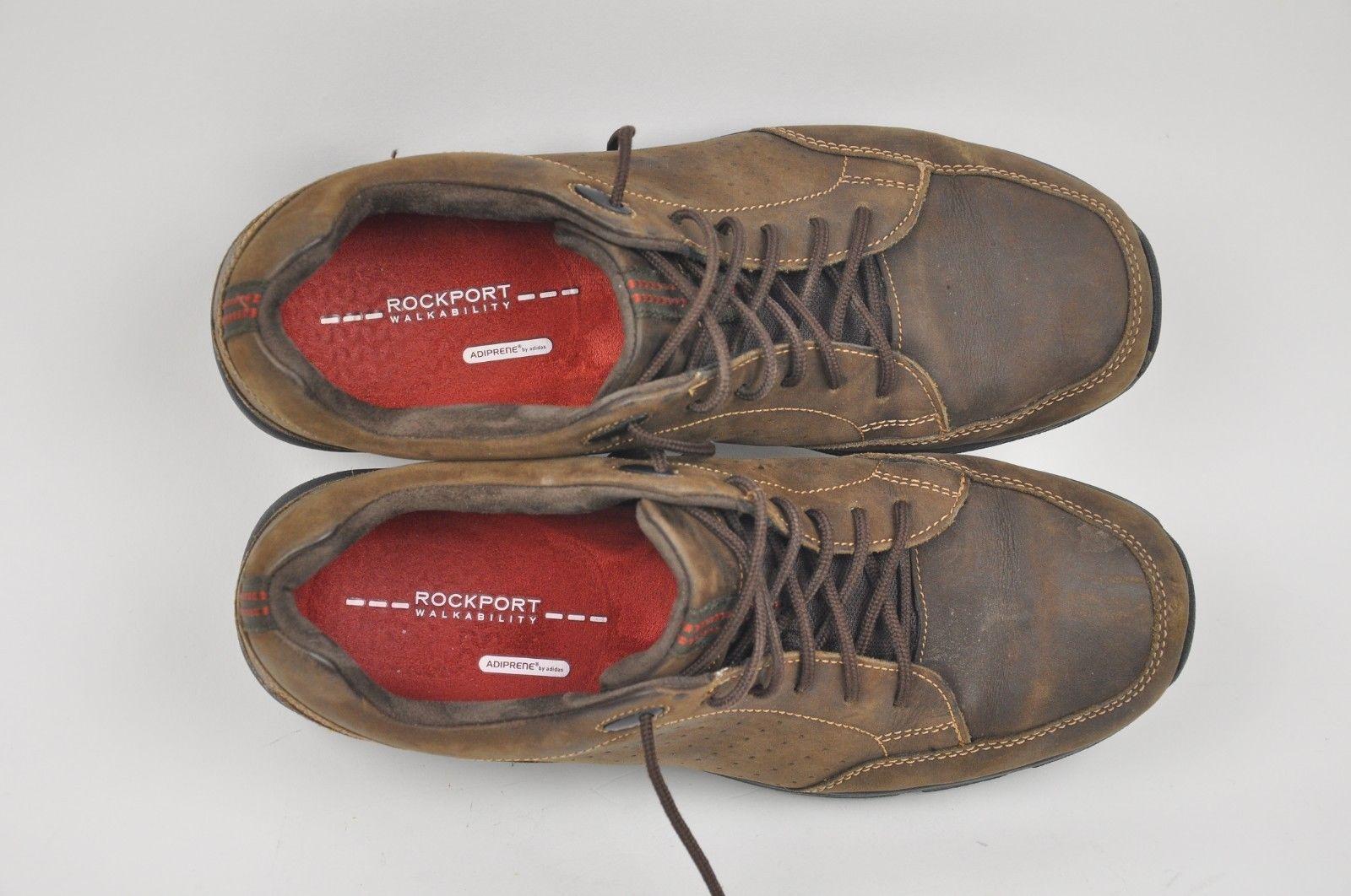 e4d10dc9f9 Men s Leather ROCKPORT XCS Make ur Path Lace Shoes 9 Walkability Adiprene  V76879