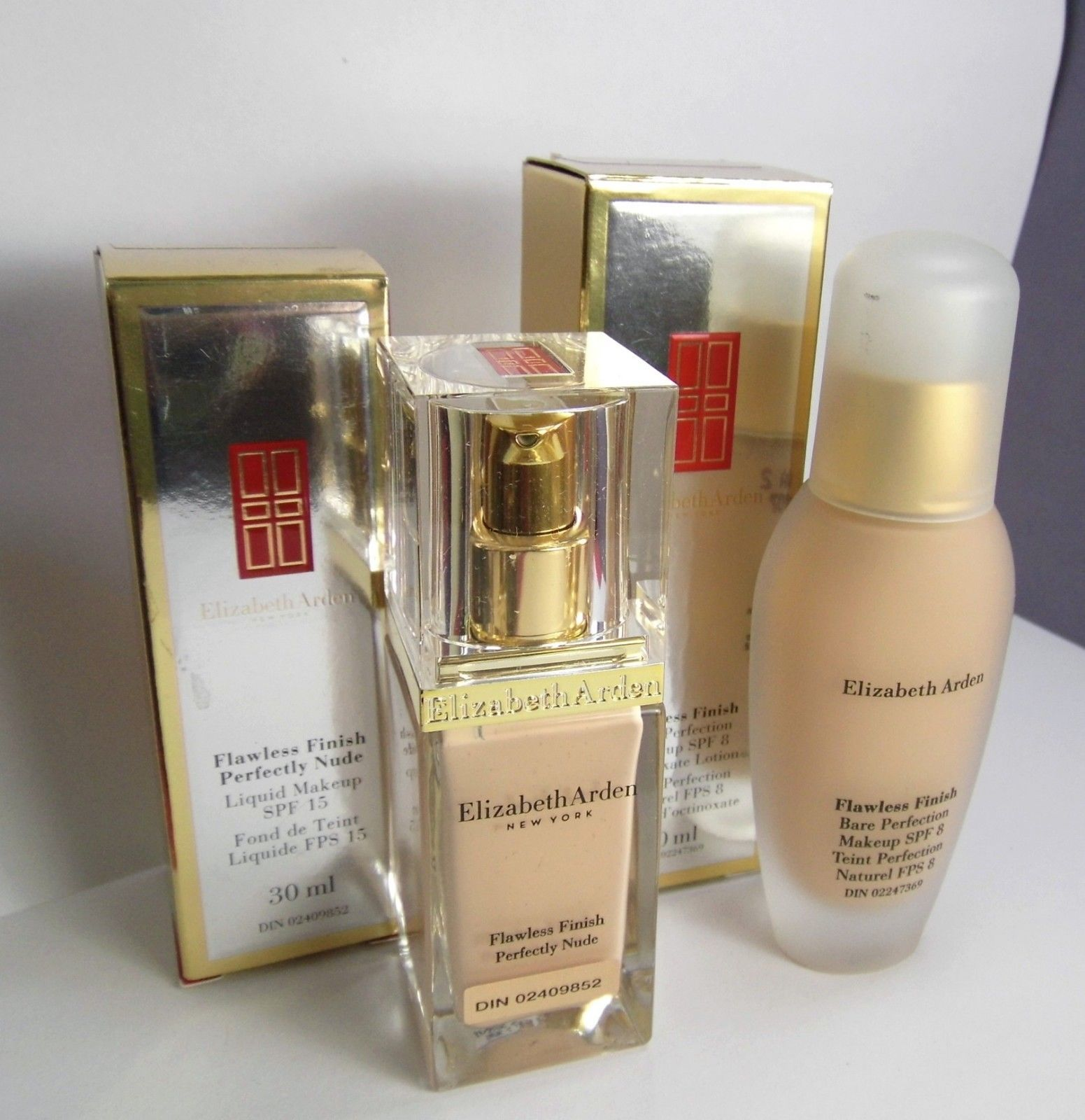 Primary image for 2 pc Elizabeth ARDEN 06 Warn Sunbeige & 40 Beige Flawless Finish Foundation NIB