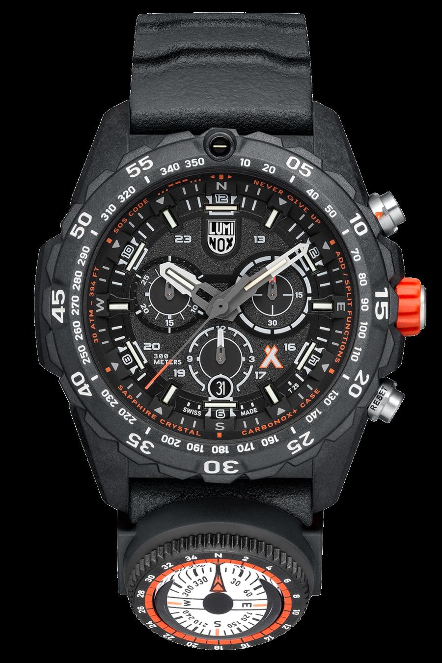NEW Luminox 3741 Bear Grylls Survival MASTER Rubber Strap Quartz 45mm Case Watch