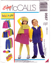 McCall's 9567 Girls Boys Sewing Pattern Childs Pant Top Jumper Scarf Siz... - $5.95