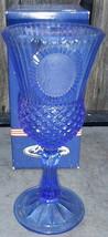 Cobalt Blue Martha Washington Avon Fostoria Goblet - $12.99