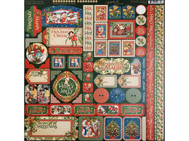 Graphic 45 Christmas Magic 12x12 Cardstock Sheets and Sticker Sheet image 9