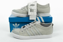 adidas Originals Womens Honey Low Trainers Grey/White Lace-up Canvas - $45.86+