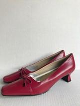 Easy Spirit Womens Broadpeak Pumps Heels Shoes Red 8N - $42.77 CAD