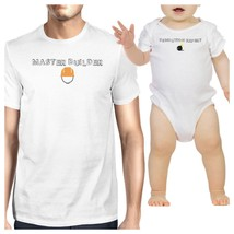 Master Builder Demolition Expert Dad and Baby Matching White Shirts - $29.99