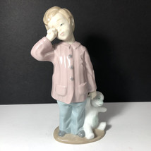 LLADRO NAO FIGURINE PORCELAIN STATUE SCULPTURE SLEEPY HEAD 1139 TEDDY BE... - $123.75