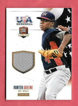 2014 Hunter Greene Panini USA Baseball Rookie Jersey 31/99 - Cincinnati Reds - $18.99