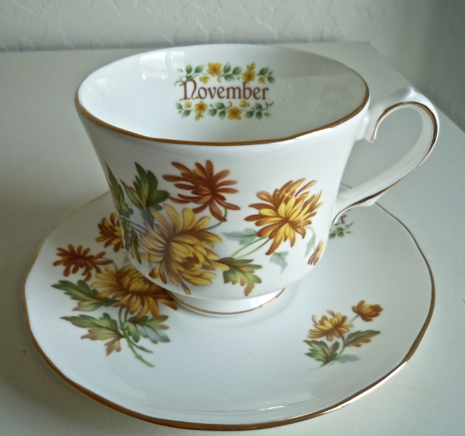 Primary image for Duchess Flower of The Month November Cup and Saucer Set