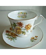 Duchess Flower of The Month November Cup and Saucer Set - $23.73
