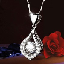 Water Drop Necklace Quartz Zircon Gem Crystal DIY Jewelry Romantic Women's Neckl - $9.66
