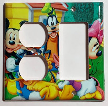 Mickey Minnie Donald Duck Light Switch Power Outlet wall Cover Plate Home decor image 4