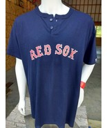 Men's MLB Boston Red Sox Baseball #16 Majestic 2 button pullover Shirt X... - $14.77