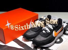 Sacai x Nike LD Waffle Daybreak Mens Running Shoes - Black/Yellow Multi - $199.99