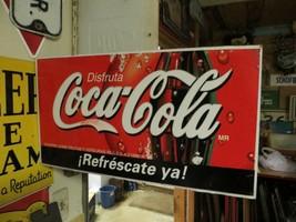 original Disfruta Coca-Cola MR Refrescate ya DOUBLE SIDED FLANGE SODA PO... - $213.75
