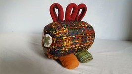"8""ARTISAN PLUSH PLAIDERPILLAR PLAID CATTERPILLAR,SOFTSCULPTURE ART,CUSTO... - $9.89"