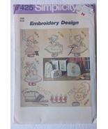 Vintage Simplicity Embroidery Design Pattern 7425 Cut, Uncut - $10.39