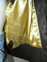 BABY PHAT Jacket Puffer Leather Kimora Lee Simmons Brown Coat XX-Large image 10
