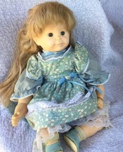 Vintage Doll Assoc. Dollmakers Inc. Floral Dress Bloomers Shoes Toy Coll... - $38.39